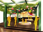 「森永ホットケーキ風呂」が期間限定オープン バニラとメープルの香りに包まれホットケーキの中に飛び込んだような感覚に
