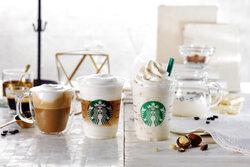 画像:スタバの新作は白いコーヒー 「ホワイト ブリュー コーヒー & マカダミア フラペチーノ」が新登場