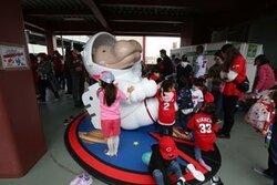 画像:マツダスタジアム、「宇宙」テーマにリニューアル なぜかオオサンショウウオ像も登場