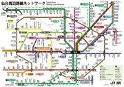 100年後に実現するかも? 架空の地下鉄「仙台メトロ」の路線図がこちら