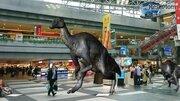 新千歳空港にむかわ竜、実物大を3Dで体験