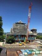 ロボ好きにはたまらない熊本城の「変形」 復旧工事中の姿に興奮の声、続々