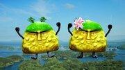 ひと目見たら忘れない「ブツブツくんとブツブツちゃん」 九十九島のPRキャラ、なぜこうなった