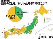 鶏肉を「かしわ」と呼びますか? 西日本→「呼ぶ」 東日本→「呼ばない」 広島→???