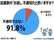 応援歌の「お前」はNG? サウスポー騒動でアンケート→91.8%が「不適切ではない」