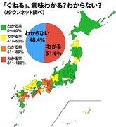 「ぐねる」の勢力分布が見えてきた! わかる派→西日本、わからない派→東日本