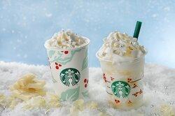 画像:スタバから銀世界広がる「ホワイト チョコレート スノー フラペチーノ」が新登場 キラキラと雪舞うクリスマス