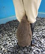 頭隠してもふもふ隠さず 脚の間に顔をうずめるペンギンの赤ちゃんが愛らしいと話題に